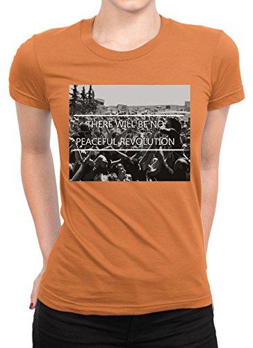 onetwotee -  T-shirt - Donna arancione XXL