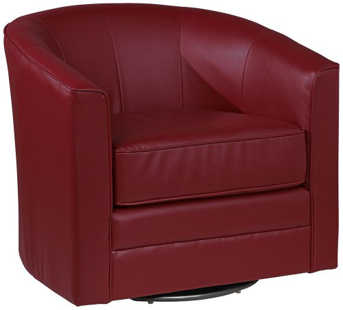 Outstanding Sale Keller Scarlet Bonded Leather Swivel Club Chair Price Onthecornerstone Fun Painted Chair Ideas Images Onthecornerstoneorg
