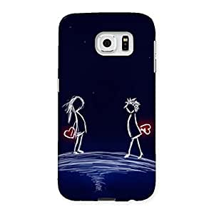 Ajay Enterprises WoSky Couple Back Case Cover for Samsung Galaxy S6