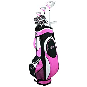 Golf Girl FWS2 LADY LEFTY Pink Hybrid Club Set & Cart Bag by Golf Girl