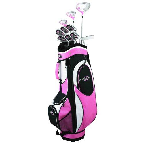 Golf Girl Fws2 Petite Lady Pink Hybrid Club Set & Cart Bag front-617728