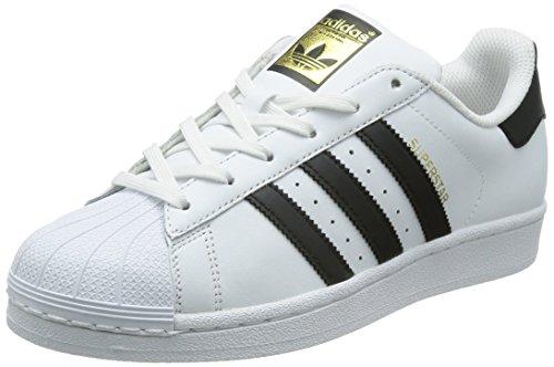 adidas-Superstar-W-Zapatillas-de-deporte-exterior-Mujer-Blanco-Negro-40-23