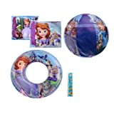 "4-piece Disney Princesses Pool Toy Swim Set: Disney Sofia The First Beach Ball (16""), Princess Sofia"
