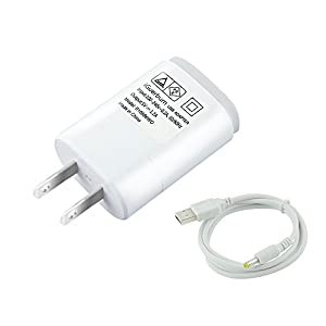 iGuerburn USB Charger for Fujifilm Instax Share SP-1 Smartphone Printer 5W 5V 1A (Max. 5V 1.2A) AC/DC adapter / Power Supply with Power Cord (White)
