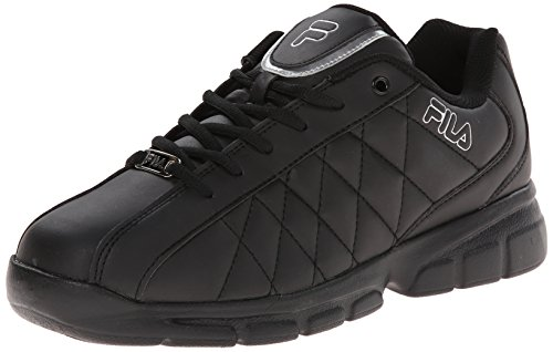 Fila Men's Fulcrum 3 Training Shoe, Black/Black/Metallic Silver, 12 M US