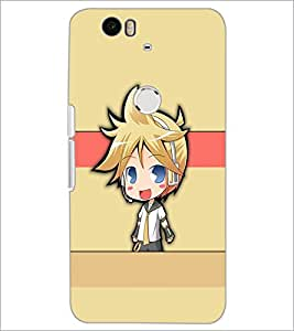 PrintDhaba Cute Girl D-4201 Back Case Cover for HUAWEI NEXUS 6P (Multi-Coloured)