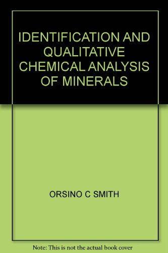 Identification and qualitative chemical analysis of minerals PDF