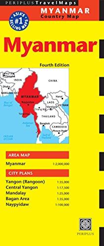 Myanmar Travel Map Fourth Edition