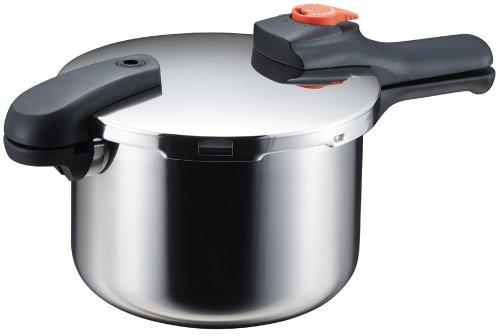 パール金属 節約クック ステンレス製圧力切替式片手圧力鍋5.5L H-5437
