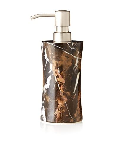 Marble Crafter Vinca Collection Marble Soap Dispenser, Black/Gold Marble