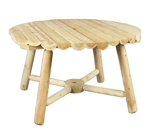 Cedarlooks 020013B Log Round Umbrella Table, 48-Inch
