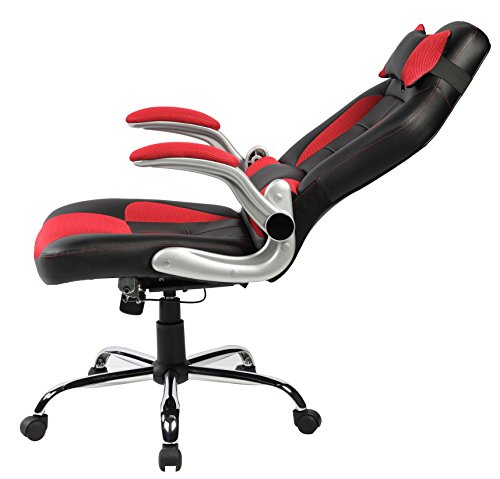 Merax High-Back Ergonomic Pu Leather Office Chair Racing Style Swivel Chair Computer Desk Lumbar Support Chair Napping Chair ...  sc 1 st  PCPartPicker & Merax High-Back Ergonomic Pu Leather Office Chair Racing Style ...