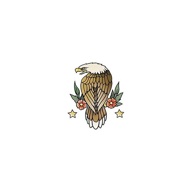 Bald Eagle Tattoo T shirt, Classic Tattoo Design T shirt, Old School Vintage Tattoo T shirt Clothing