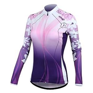 Santic Winter Women Jacket Long Sleeve Tops Fleece Thermal Cycling Jersey by SDK