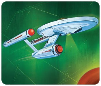 AMT Star Trek Classic Enterprise - 2nd Ed Tin