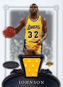 2006-07 Bowman Sterling #29 Magic Johnson Game Worn Jersey Basketball Card