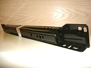 18 Inch 75 Lb Black Epoxy Coated Cabinet Drawer Slides