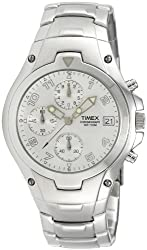 Timex E Class Chronograph Silver Dial Mens Watch - T27881