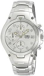 Timex E Class Chronograph Silver Dial Mens Watch - T27881