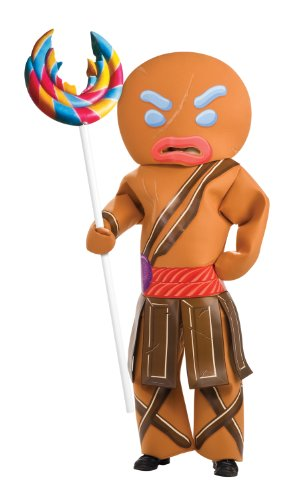 Adult Shrek Gingerbread Man Warrior Costume