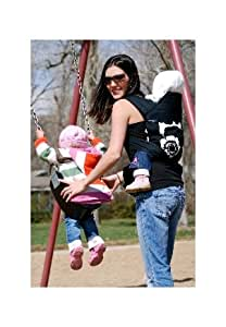 Babyhawk Mei Tai Baby Carrier Sophia Black on Black Straps with Bonus Dainty Baby Reusable Bag