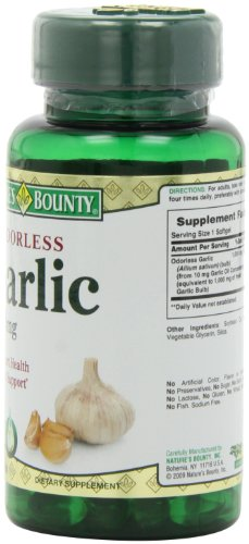 销量冠军,Nature's Bounty自然之宝 大蒜胶囊 100粒*3瓶图片