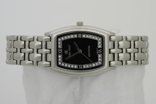 OSKAR EMIL MONTROSE SWAROVSKI CRYSTALS SET UNISEX WATCH BLACK SWISS MOVEMENT