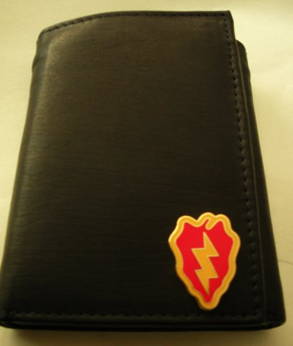 25Th Infantry Division Tri-Fold Leather Wallet