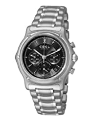 Ebel Men's 9137L40/5360 1911 Black Chronograph Dial Watch