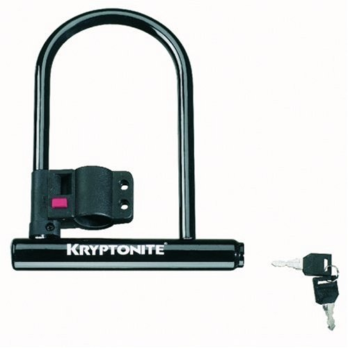 Kryptonite Keeper 12 Standard Bicycle U-Lock with Bracket Bicycle U-Lock (4-Inch x 8-Inch)