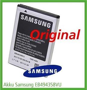 Original & Neu - Samsung EB494358VU / EB494358VUCSTD - Li-Ion - 1350 mAh für Samsung GT-B7510 Galaxy Pro / GT-S5660 Galaxy Gio / GT-S5670 Galaxy Fit / GT-S5830 Galaxy Ace