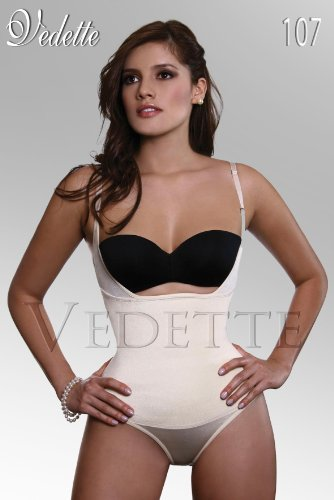 Braless Body Shaper with Latex, Vedette Girdle V107