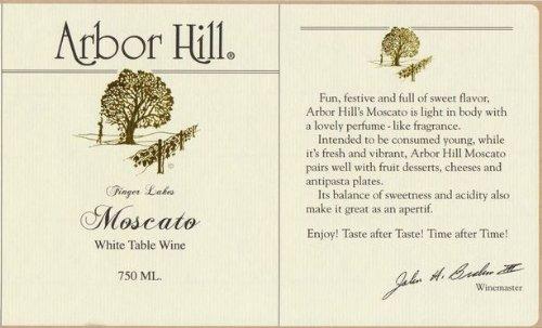 Nv Arbor Hill Grapery & Winery Moscato 750 Ml