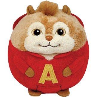 Ty Beanie Ballz Alvin - Chipmunk - 1