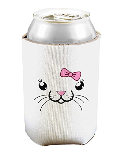 Kyu-T Face - Tinya Cute Girl Mouse Can And Bottle Insulator Cooler - White