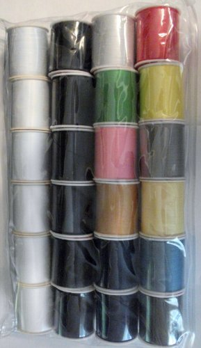 Great Features Of 24 Assorted Spools of Thread Full Size 200 Yards Each
