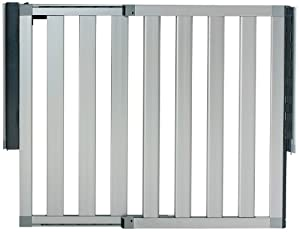 Munchkin Loft Aluminum Infant Safety Gate, Silver