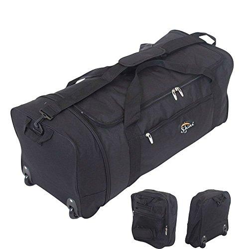 32-inch-large-folding-wheeled-travel-sports-cargo-holdall-duffle-bag-0-black