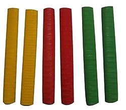 Rhino Regular Quality Single Colour Cricket Bat Grip-Chevron Design Single Colour - Full Size (Pack of 6)
