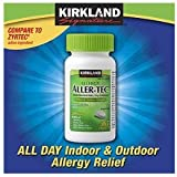 Kirkland Signature Aller-Tec Cetirizine Hydrochloride Tablets, 10 mg, 365 Count (Pack of 3)