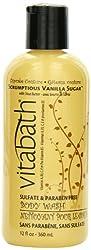 Vitabath Body Wash Scrumptious Vanilla Sugar with Shea Butter 12 Ounce