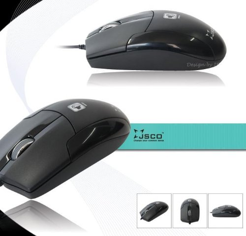 Noiseless USB Optical Computer Wheel Mouse 800 DPI Super Quiet JNL-006K Black Silent