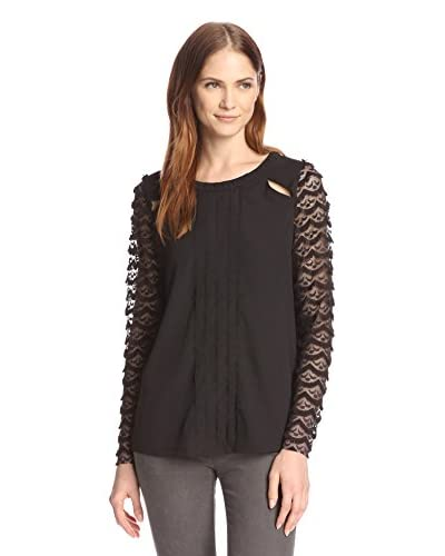 Allison Collection Women's Lace Sleeve Top
