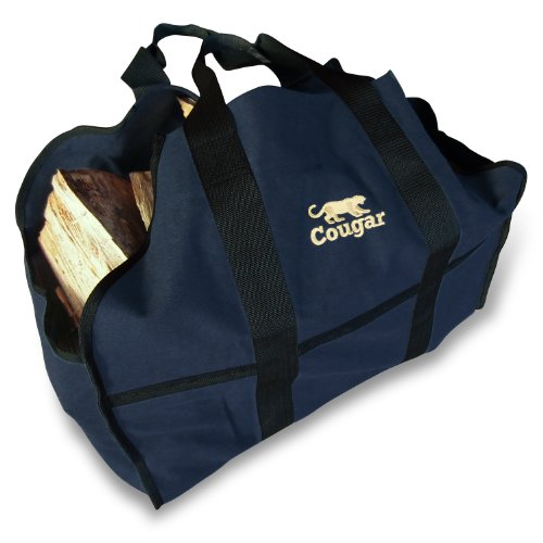 Cougar Premium Log Carrier, Heavy Duty Canvas Firewood Tote Bag Best For Carrying Wood (Insignia Blue) (Wood Stove Fire Proof compare prices)