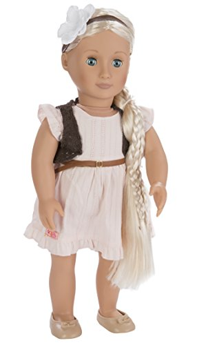 Our Generation From Hair to There 18-Inch Penny Doll with Extendable Hair and Style Guide in Cream Colored Dress, Brown Crochet Vest, and Beige Shoes (Metal Doll Hair Brush compare prices)