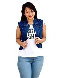 Aarti Collections Classic Dark Blue Women's Denim Jacket