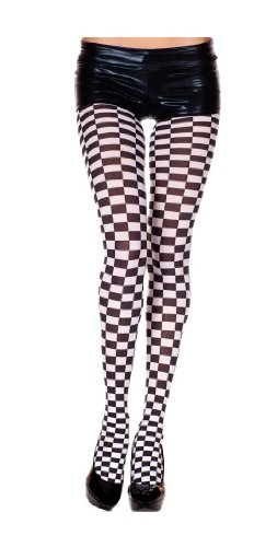 Original Opaque Checkered Tights for Women