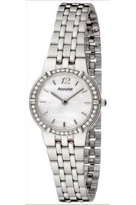 Accurist LB1739P Ladies Stainless steel MOP dial Analogue Bracelet Watch