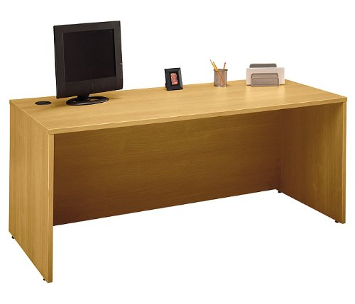 Bush Business Furniture WC60336 Light Oak Series C Desk 72 Inch [Kitchen]
