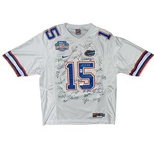 2008 Florida Gators National Champions Team Autographed (White #15 Nike) Jersey - 33... by PalmBeachAutographs.com